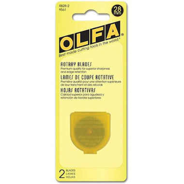 Olfa 28mm Rotary Blades (RB28-2), 2 Blades per pack