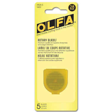 Olfa 28mm Rotary Blades (RB28-5), 5 Blades per pack