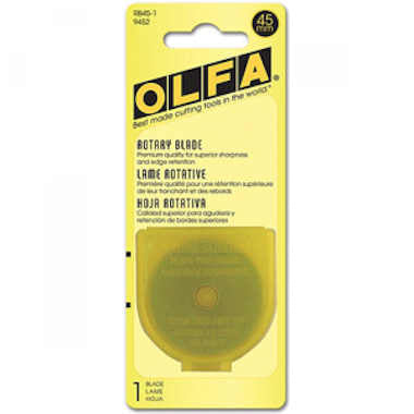 Olfa 45mm Rotary Blades (RB45-1), 1 Blade per pack