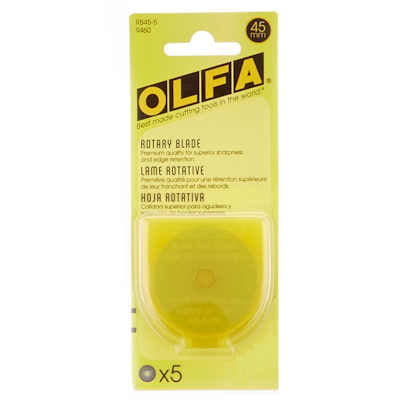Olfa 9460 45mm Rotary Blades (RB45-5), 5 Blades per pack