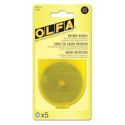 Olfa 9458 RB60-5 60mm Rotary Blade, 5-Pack