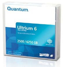 Quantum LTO 6 ULTRIUM Data Cartridge 2.5 TB / 6.25 TB with customized label