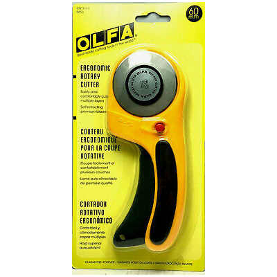 OLFA 60mm Deluxe Handle Rotary Cutter (RTY-3/DX), Model:9655