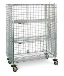 "Metro SEC56EC Super Erecta Mobile Security Cart w/ two middle shelves - 24""  x 60"" x 68-1/2""H"