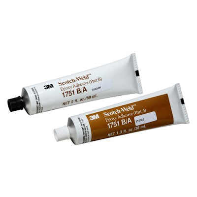 3M Scotch-Weld 1751 Epoxy Adhesive Gray, 2 oz, Tube Kit A/B