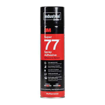 3M Super 77 Multipurpose Spray Adhesive, Net Wt 16.75 oz