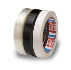Tesa 4090 9mm x 60yds Tensilized Polypropylene Strapping Tape - Black