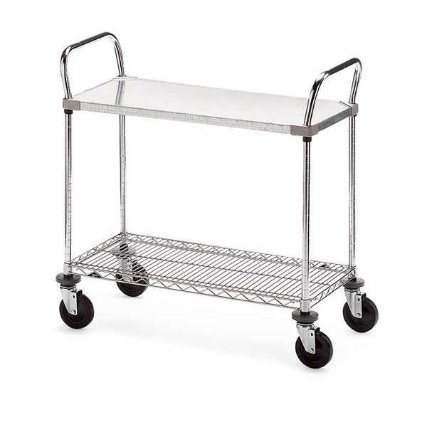"Metro Galvanized/Wire Utility cart (18"" x 48"")"
