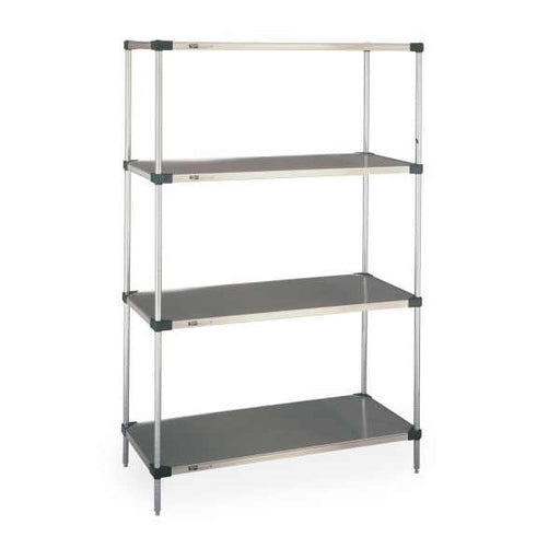 "Metro Solid Galvanized Steel Shelving Unit - 4 shelves - 14"" x 42"" x 74""H"
