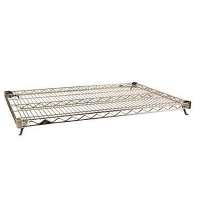 "Metro Super Erecta Super Adjustable 21"" X 60"" Chrome Wire Shelf"