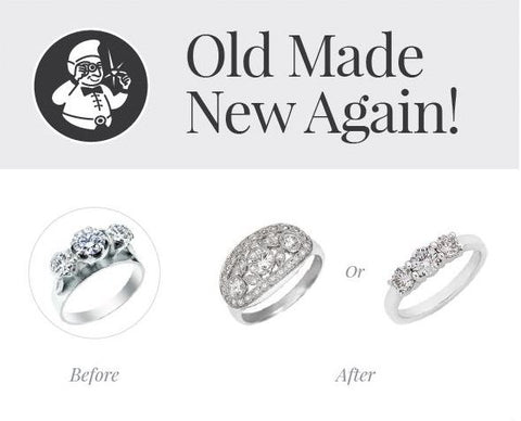 remodel, jewellery remodelling, before and after, before and after jewellery, revamp, yellow to white