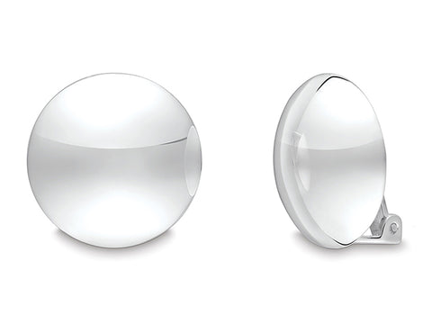 Sterling Silver Dome Clip-On Earrings
