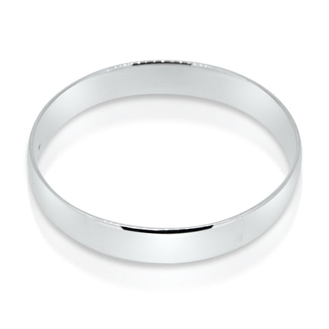 solid sterling silver bangle, wide