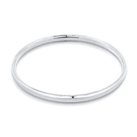 sterling silver solid round golf bangle