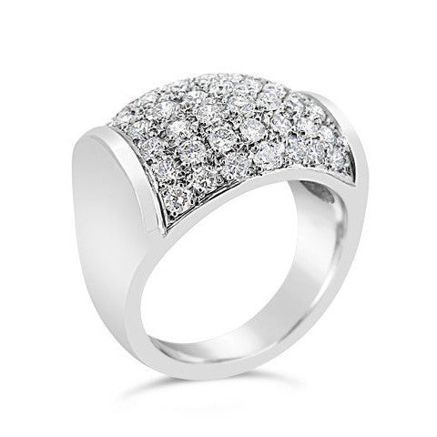 Pave Set Diamond Dress Ring