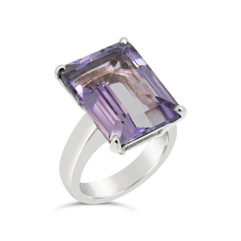 'Le Soiree' Sterling Silver Amethyst Ring
