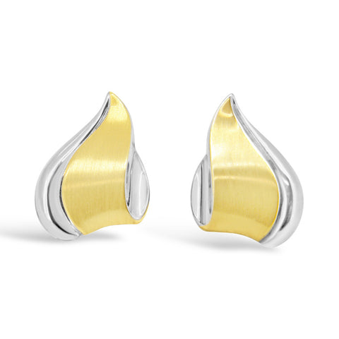 Two tone clip on earrings   WPE45