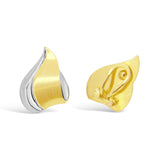 'Flame' Gold Two-Tone Clip on Earrings   WPE45