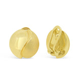 'Yin Yang' Gold Clip-on Earrings   WPE43