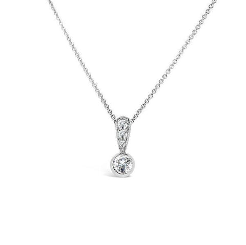 Collet Set Diamond Pendant   P.4635
