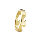 Georg Jensen Fusion End Ring Yellow/White Gold Pair OV.75