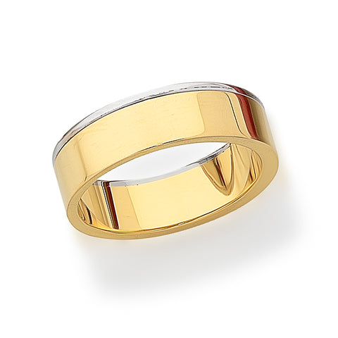 Mens 18ct Two-Tone Band