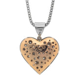 Pave Diamond Heart Pendant E.1128