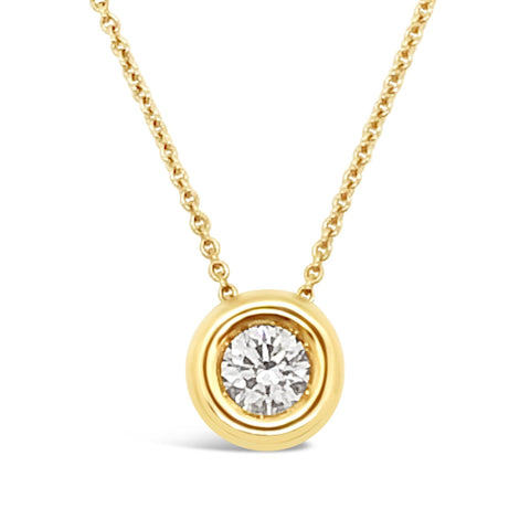 Bezel Set Brilliant Cut Diamond 'Luna' Pendant P.5263