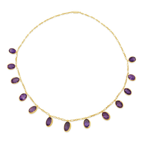 Edwardian Amethyst Fringe Necklace N.1012