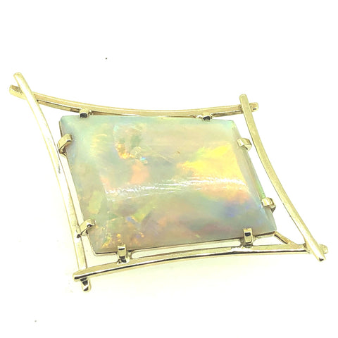 Solid White Opal Brooch P.5320