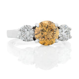 'Harmony' Cognac & White Diamond Ring