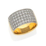 Handmade Pave Set Diamond Bands