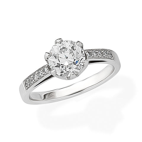 1.67ct Old European Round-Cut Diamond Ring