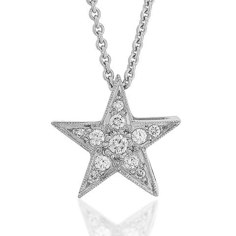 Pave Diamond Star Pendant E.1131