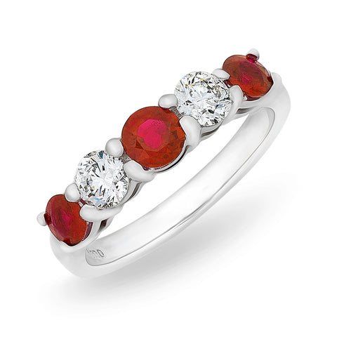'Harmony' Burmese Rubies & Diamonds Band