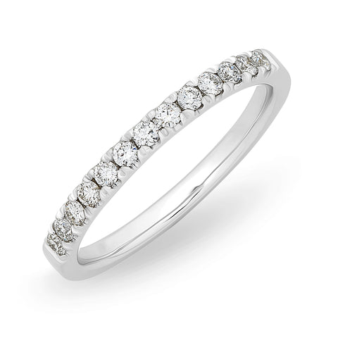 Micro Set Diamond Wedding/ Anniversary Band