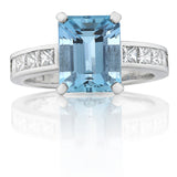 'Santa Maria' blue Aquamarine and Diamond Ring O.4132