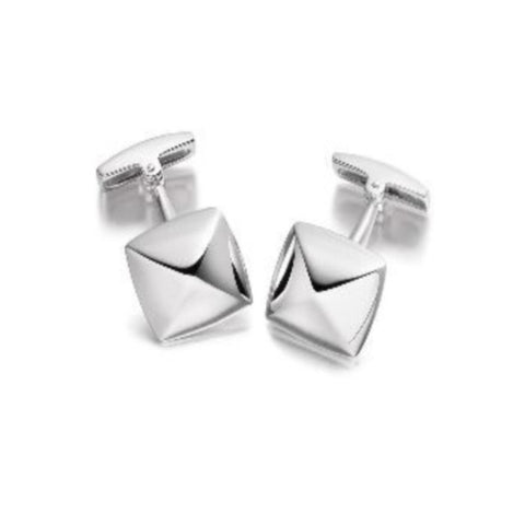 Sterling silver pyramid shaped cufflinks WPG7