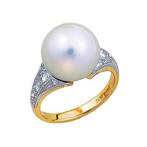 South Sea Pearl & Diamond Dress Ring   WPPA01