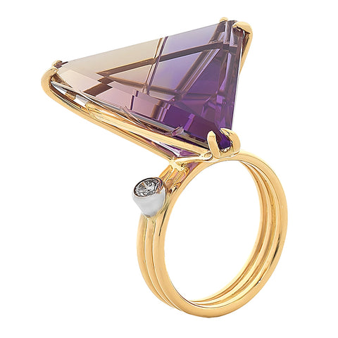 Ametrine & Diamond Ring O.4158
