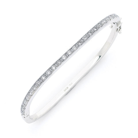 'Eternal D-Squared' 1.68cts 18ct White Gold Diamond Bangle