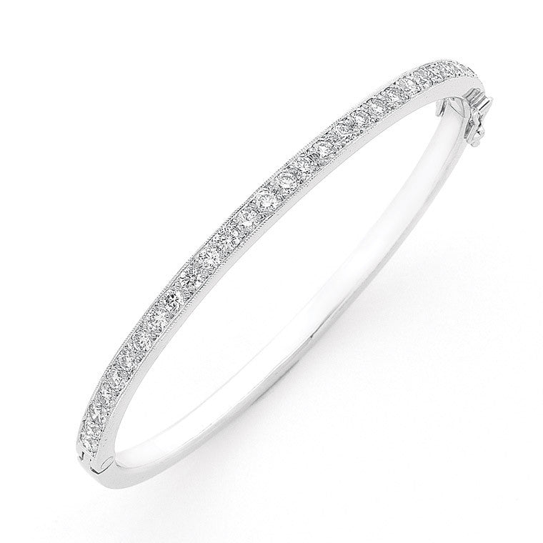 Hinged diamond bangle  WPB04