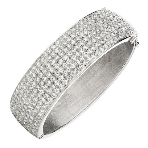 'Pave - Royal' wide diamond set bangle   WPB07