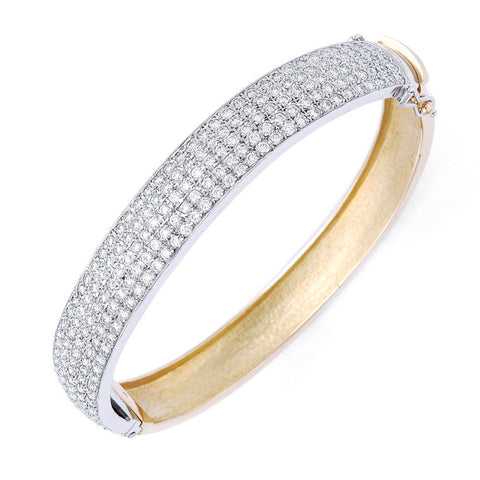 'Pave - Grande' diamond set bangle   WPB08