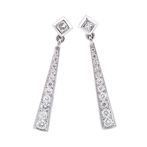 Long diamond drop earrings   WPE15
