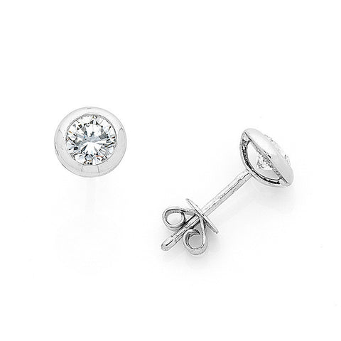 Classic Bezel-Set Diamond Studs