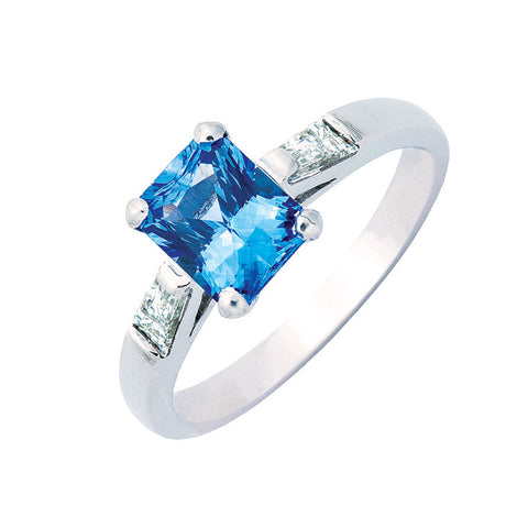 Ceylon sapphire and diamond engagement ring, made to order jewellery Melbourne