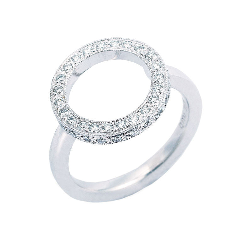 diamond dress ring, open circle design