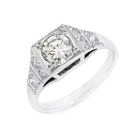 Edwardian style diamond ring, bespoke jewellery Melbourne