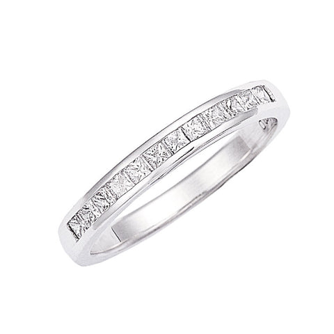 channel set, princess cut diamond wedding ring